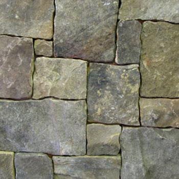 Ashlar Fieldstone Wall Installation