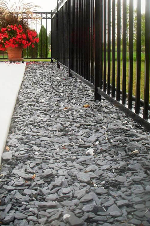 Slate Chip Border Installation