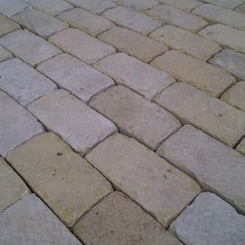 Tumbled Cobbles Patio Installation