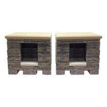 "Wood Boxes 2'1""D x 3'3""W x 3'1""H"
