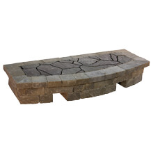 """Arched Hearth 2'D X 5'W X 11""""H"""