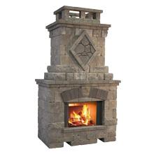 """Fireplace 3'D X 5'W X 9'3""""'H"""