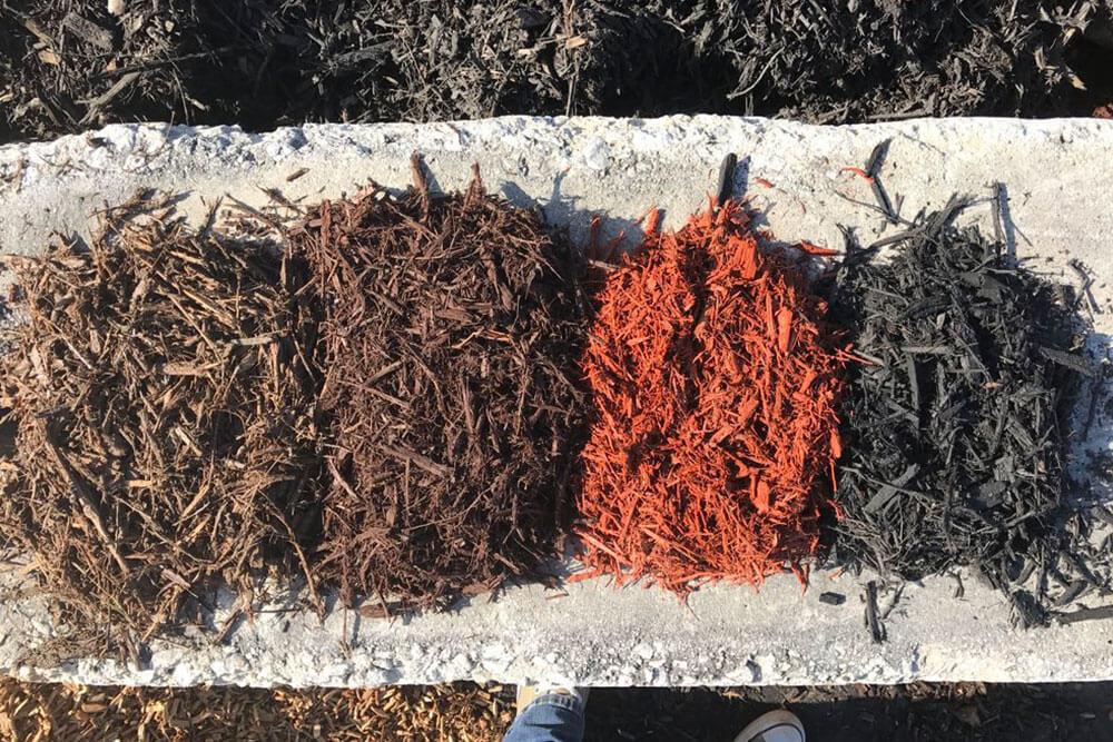 Dyed Mulch